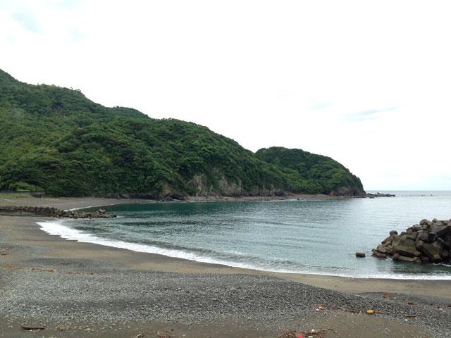 矢井賀から見た海。