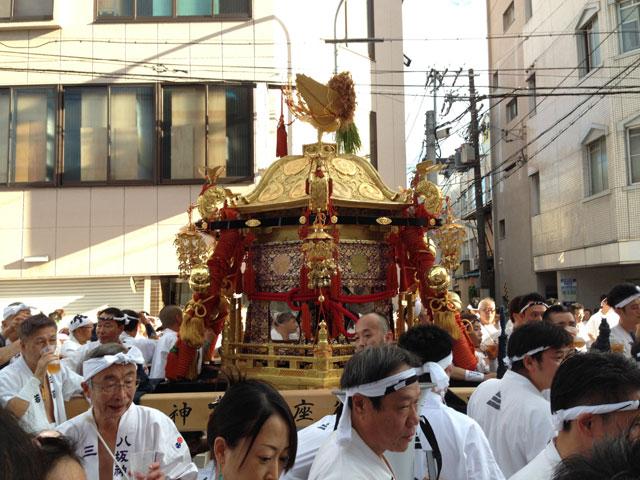 京都・祇園祭(中御座の神輿)