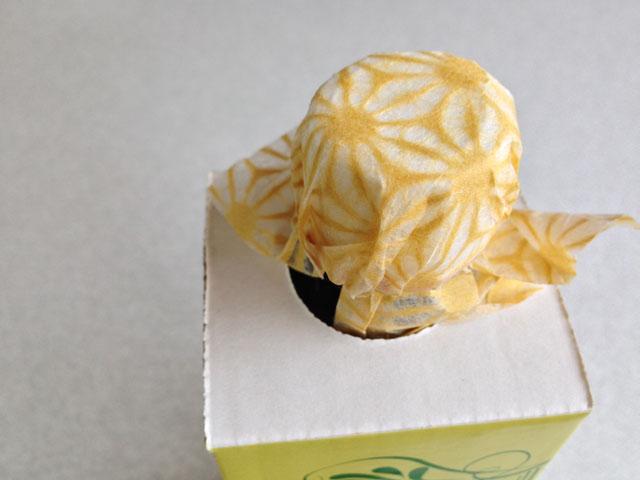 ヘンプオイルのキャップ部包装
