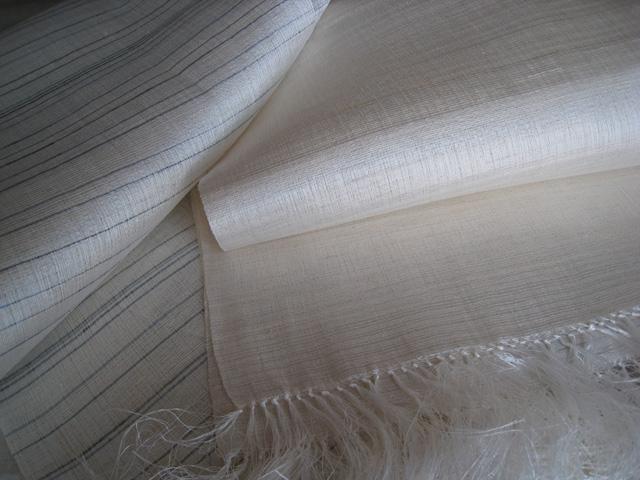 大麻と絹の織物