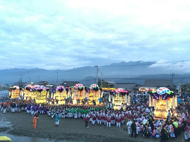 秋季例大祭 太鼓台11台の奉納かきくらべ