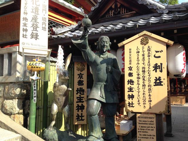 京都・地主神社(大国主命と因幡の白兎)