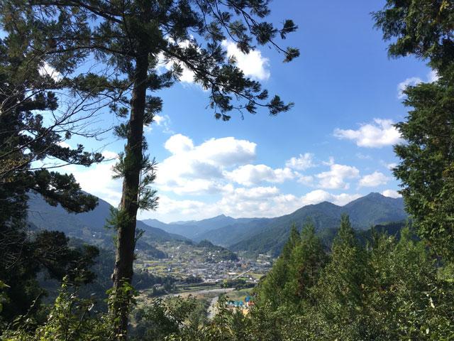 徳島・上一宮大粟神社(大粟山からの眺め)
