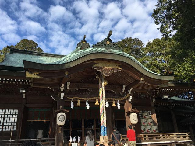 徳島・大麻比古神社(拝殿)