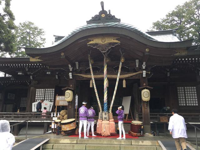 徳島・大麻比古神社(神麻しめ縄奉納式)太鼓奉納