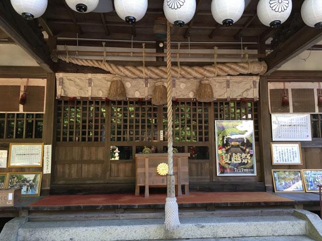 愛媛・内宮神社(しめ縄と鈴緒)
